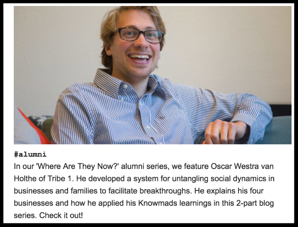 Article about me on the Knowmads Alumnus Blog